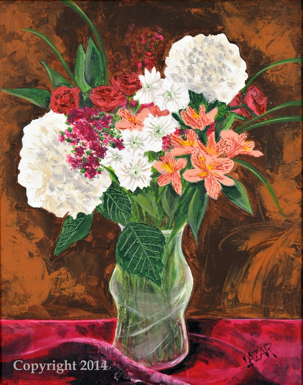 White Geraniums Still Life